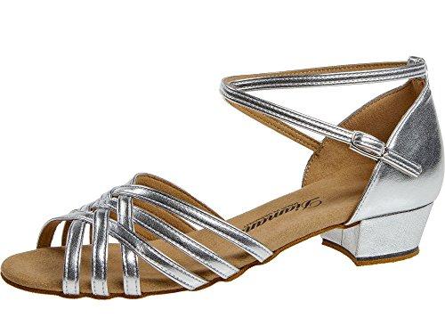 Diamant Damen 008-035-013 Standard-& Latintanzschuhe, (Silber 013), 38 2/3 EU