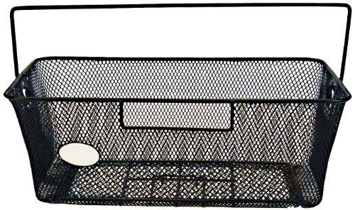 Profex cesta per bicicletta a maglia stretta, colore: nero