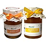 Farm Naturelle (Farm Natural Produce) Raw Natural Wild Berry Forest/Sidr Honey With Jungle Hone, 825g - Pack Of 2