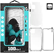 Atouchbo IPhone 12 (4 IN 1) Full Premium Protection Set,Anti-Shock Clear Case,Nano Screen Protector,Full Lens