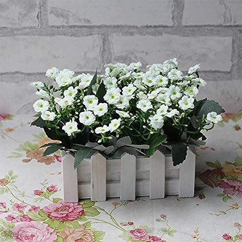 Life Up® 16cm Maceta de Lavanda + Artificial Flores de Lavanda Florero planta plantador, Decoración Iniciar / interior / exterior / de la boda /