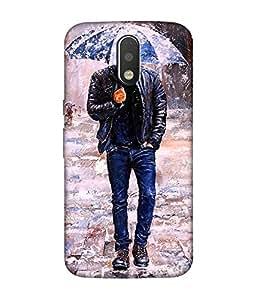 Motorola Moto G4 Play Designer / Printed Back Cover -(pattern)
