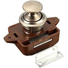 funnytoday365Push Button Gabinete Latch para caravana/autocaravana Caravana cerradura para armario Push Latch Lock