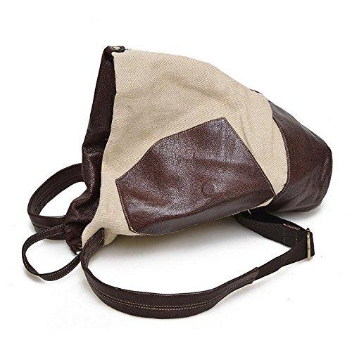 Retro-Wildleder Leder casual Leder Damentaschen Handtasche Schultertasche coffee color