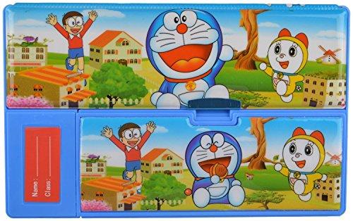 Pranshi Superior Quality Doremon Big Pencil Box Tab Style Double Sided Pencil Box