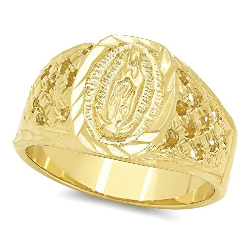 mens-22mm-14k-gold-plated-classic-catholic-virgin-mary-blessed-mother-ring-