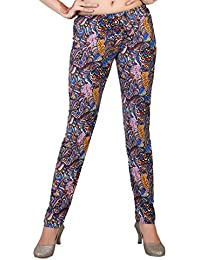 Comix Women Lycra Fabric Comfort Fit Ankle Length Printed Stylish Leggings - XL