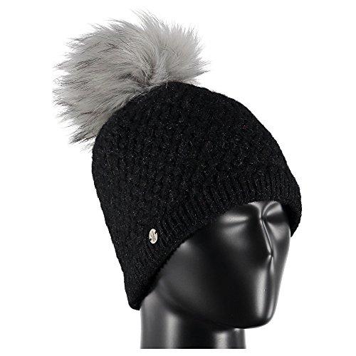 Spyder Damen Mütze Icicle, Damen, 626428, schwarz/Silber, Einheitsgröße