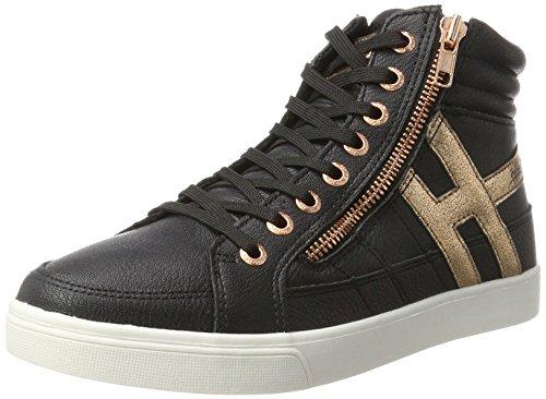 H.I.S Damen 16MCB007 Hohe Sneaker, Schwarz (Funereal/Bronce), 38 EU