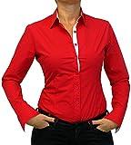Perano 102-13 Damen Bodys Blusen Bodybluse Blusenbody Farbe Rot Konfektionsgröße 38 Internationale Größe M Rot M/38