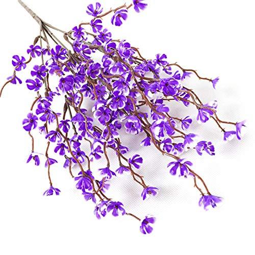 Nortongrace Design Artificial Flower Plum Blossom Flowers Plant Home Office Schlafzimmer Decor Wedding Bouquet Party Decor(None C64 Purple) -