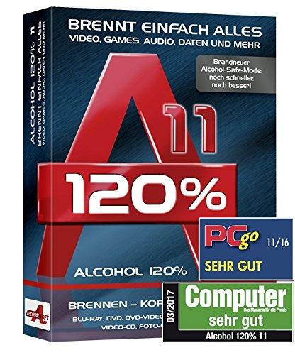 Alcohol 120% 11 - Brennt und Kopiert einfach alles - Videos, Games, Audio, Daten und Mehr (120 Audio)