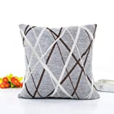 Sansee Plush Pillow Sofa Waist Throw Cushion Cover Home Decor Cushion Cover Case ,Perfect for place on the sofa/ coffee shop/ library/book store/ party/club (Gray)