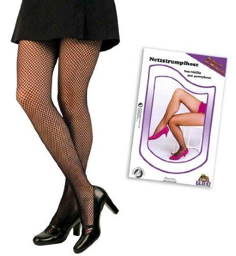 Netzstrumpfhose feinmaschig schwarz Strumpfhose (Tanz Strass Kostüme Designs)