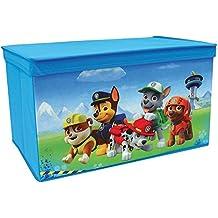 Fun House 712540 Pat 'vigilancia-Baúl para juguetes plegable, poliéster, azul, 55,5 x 34,5 x 34 cm