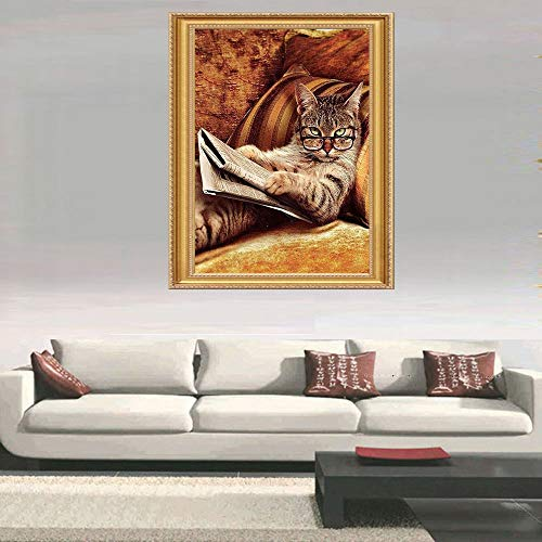Mosstars Painting 5D DIY Diamant Malerei Stickerei Malerei Teil Runde Diamant Malerei Wohnkultur Geschenk Embroidery Painting Cross Stitch Bedroom Living Room Office Decoration 20x20cm