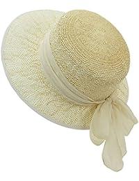 EveryHead Fiebig Sombrero De Papel Niña Gorro Equinácea Verano Vacaciones La Marca Moda Con Gradiente Cinta Gasa Para Niños (FI-69775-S18-MA3) Incl Hutfibel