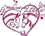GRAZDesign 300044_40_WT041 Wandtattoo Wandaufkleber Tattoo für Mädchenzimmer Spruch Pferde Sind Mein Leben (50x40cm//041 Pink)
