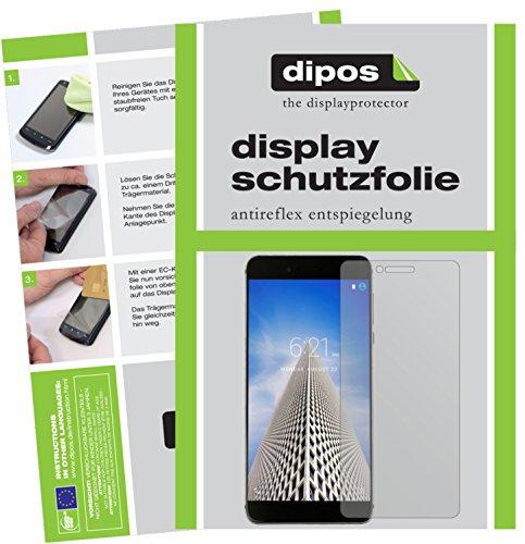dipos I 2X Schutzfolie matt passend für Vernee Mars Pro Folie Bildschirmschutzfolie