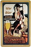 Blechschild Wer Bier trinkt... 20 x 30cm Reklame Retro Blech 527