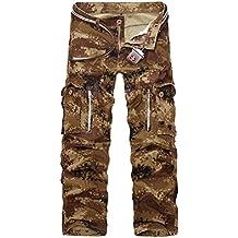 AYG Hombre Pantalon Cargo Pants Camuflaje Pantalones Casuales Work Trousers 29-40