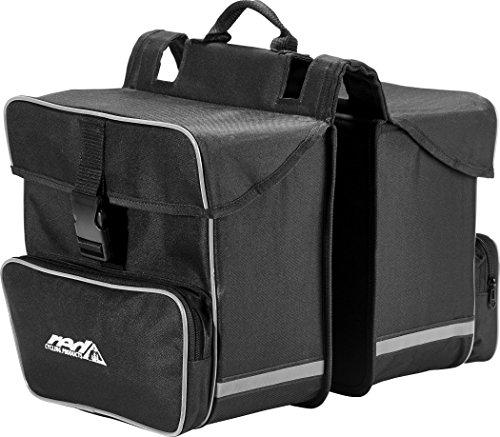 Red Cycling Products Premium Double Bag Gepäckträgertasche schwarz 2018 Fahrradtasche