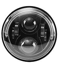7inch LED lente H: 40W L: 30W COCHE LED Faros con LED de conducción diurna Luz Señal De Giro Anillo de luz y función para ambos Protecciones homologadas y Auto