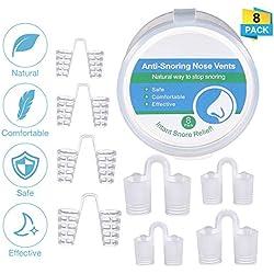Charminer Dispositif Anti Ronflement Nez Snore Stopper Dilatateur Nasal Contre le Ronflement Anti-Ronflement pour les Hommes et les Femmes 8Pcs