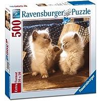 Ravensburger 15220 Puzzle Quadrato Gatti Himalayani, 500 Pezzi