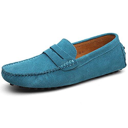 Sapatos Sapatos Barco Azuis De Couro Mocassim De Sapatos Clássico Sapatos Camurça Chinelos De Condução Baixos Plana Homens YZ1AWqwxOw