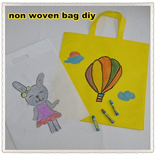 Einkaufstaschen,Wiederverwendbar Party Geschenk Tote Taschen 24 Packung 6 Farben Non-woven Stoff Tragetaschen Merchandise Taschen Umweltfreundlich mit Griff, für Kinder Erwachsene