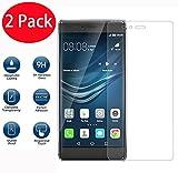 2 Pack - Huawei P9 Plus Verre Trempé, Vitre Protection Film de Protecteur d'écran Glass Film Tempered Glass Screen Protector pour Huawei P9 Plus