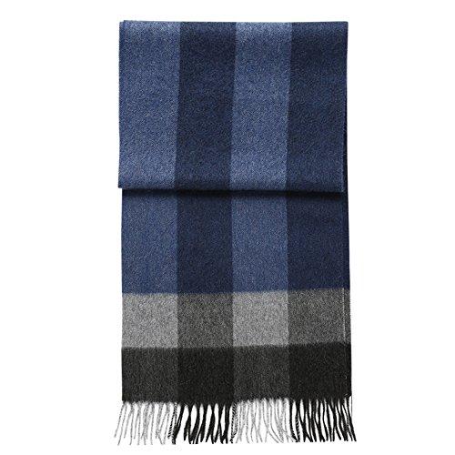Echarpe ZHANGRONG- Hommes Hiver Treillis Sauvage Simple Les Jeunes Collier -Chaleur extérieure d'hiver