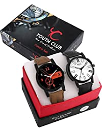Youth Club NEW CASUAL TRENDY PAIR Watch For Boys-COMBO-KRT412BLK