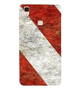 HiFi Designer Phone Back Case Cover Vivo V3Max :: Vivo V3 Max Faster than Faster ( White and Red Print Design )