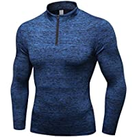 Kinlene Hombre Entrenamiento Polainas Fitness Deportes Gimnasio Correr Yoga Camisa atlética Top Blusa