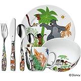 WMF Kindergeschirr-Set 7-teilig Dschungelbuch Cromargan Edelstahl Rostfrei 18/10 poliert ab 3 Jahre geeignet