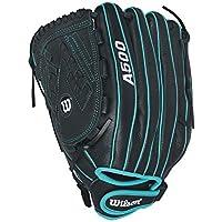 Wilson Sirena Fastpitch Softball Glove 12,5Pulgadas, Mujer, Color Negro y Azul, tamaño 32 cm