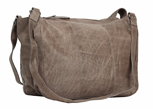 Greenburry Stainwashed Borsa a tracolla pelle 35 cm Taupe