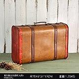 SQBJ Vintage Koffer Koffer Holz- Ornamente amerikanische Fotografie Requisiten europäischen Fenster anzeigen Bar soft Dekoration, BAA 021 l Gelb zurück zu den alten