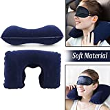 #8: Finiviva Neck Pillow for Travel Memory Foam with Eye Mask and Ear Bud for Tourist Travel