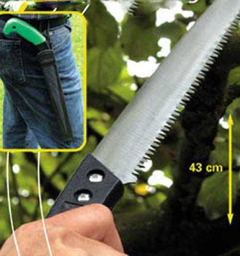 Gartensäge gummierter Griff im Etui 44 cm, Garten Ast Baum Hand Schneide Säge (LHS) (Sie Schneiden Schwimmen Stück Ein)