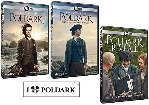 Poldark Complete Seasons 1 & 2 + Poldark Revealed (7 DVD Set With Bonus Sticker)