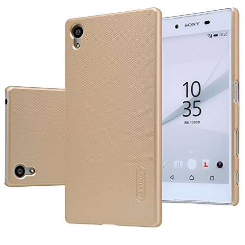 Nillkin | Frosted Hard Back Cover Case For Sony Xperia Z5 Compact Gold  available at amazon for Rs.399