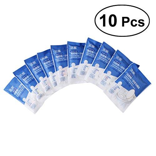 SUPVOX Coprisedili usa e getta portatile non tessuta stampato pieghevole viaggio vasino di formazione copertura di sede per i più piccoli bambini adulti (colore casuale) 10 pz
