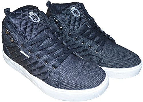 Twisted Faith , Baskets mode pour homme gris gris 47 Noir