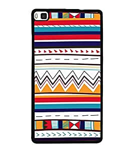Fiobs Designer Back Case Cover for Huawei P8 (jaipur rajasthan african america cross pattern)