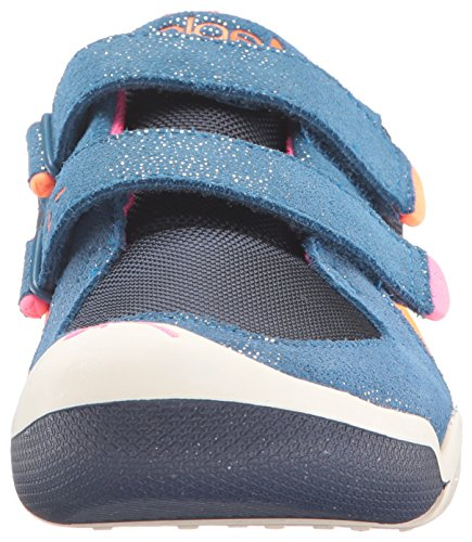 Plae Kids Ty Suede/Nylon Navy/pink Shoe *