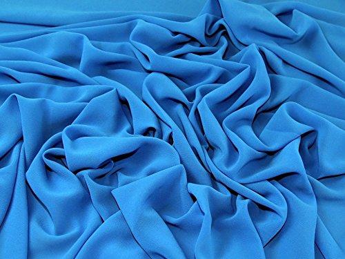 Leichtes Polyester Crepe Georgette-Kleid Stoff türkis blau–Meterware (Crepe Polyester)