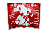 Suridblue Love Pop-Up 3D Greeting Card